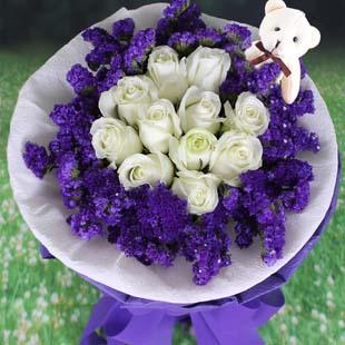 11枝白色玫瑰/爱的关怀