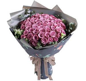 坚定而又执着的爱/19枝香槟玫瑰:你的魅影在我心中/66枝紫玫瑰