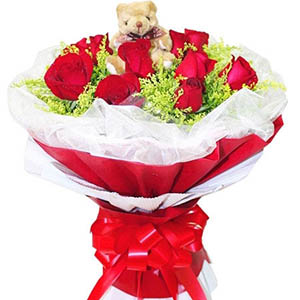 远方的祝福/9枝红色玫瑰