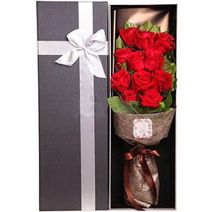 美丽人生/8寸圆形巧克力蛋糕:永远的情意/11枝红玫瑰礼盒