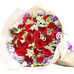 有你真好/圆形水果蛋糕:你是我的雨后的阳光/29枝红玫瑰