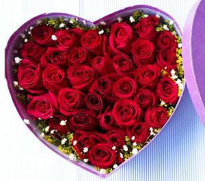 牵手到永远/99枝玫瑰:说不完/33枝红玫瑰盒装鲜花
