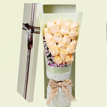 心存感激你的爱/19支香槟玫瑰