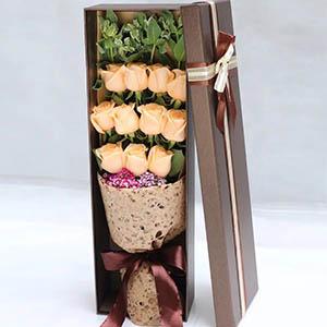 爱你一辈子/11只香槟玫瑰礼盒