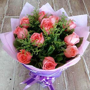 永恒的爱/19枝粉色玫瑰:11枝粉玫瑰/风雨相伴