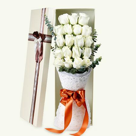 此情不渝/20枝白玫瑰礼盒