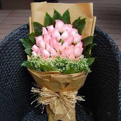 33枝粉玫瑰/誓言一生一世