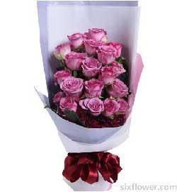 紫色玫瑰19枝/只对你有感觉