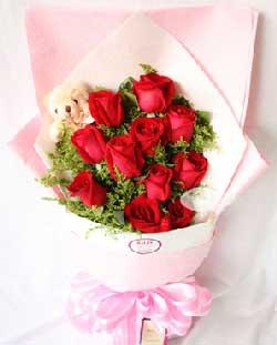 好运无限/3枝向日葵,9枝香槟玫瑰:11枝红玫瑰/快乐每一天