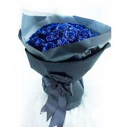 33枝蓝玫瑰/靓丽青春