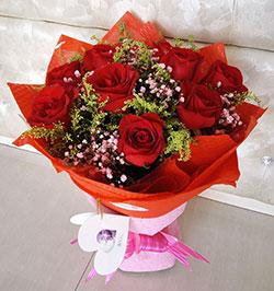 9枝红玫瑰/圆满如意