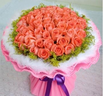 爱你是一种幸福/52枝粉玫瑰