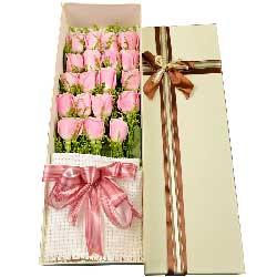 感谢缘分/19枝香槟玫瑰:一辈子的约定/19枝玫瑰礼盒