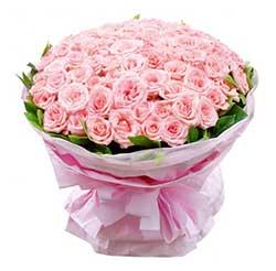 108枝粉玫瑰/爱你一生