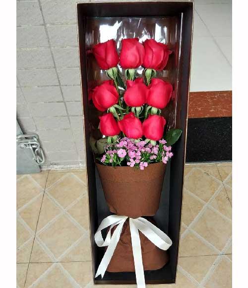 梦里有你/9枝玫瑰礼盒