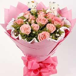 为什么总是喜欢你/11枝粉玫瑰