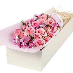 16枝粉玫瑰/摇曳多姿的你