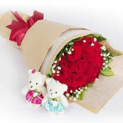 33枝粉玫瑰/誓言一生一世:19枝红玫瑰/爱的感觉