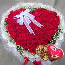 玫瑰代表我的心/99枝红玫瑰巧克力