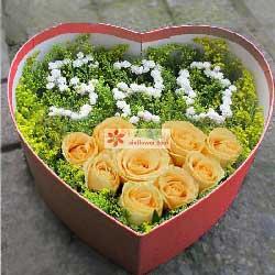 把握幸福/33枝玫瑰:9枝香槟玫瑰/珍贵的回忆