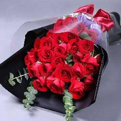 红玫瑰29枝/祝愿您的生命之叶,红于二月的鲜花