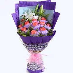 11枝玫瑰/亲爱的,你已进我心里,永远爱你