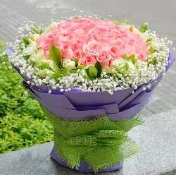 粉玫瑰99枝/你幸福了,我就幸福了