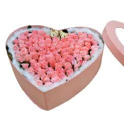 99枝粉玫瑰/你在我的心中是最美