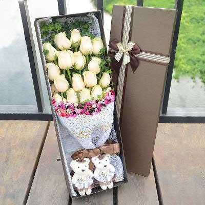 香槟玫瑰20枝/祝您身体健康,幸福永远!