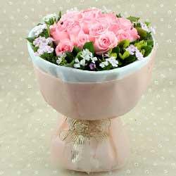 19枝康乃馨/妈妈的关爱:粉玫瑰19枝/真的真的很爱你!