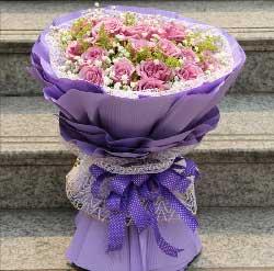 19枝紫玫瑰/深深的爱长存心底用不变
