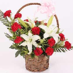 花篮/请接受我们对您深深感谢和炙热的爱