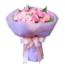 19枝粉玫瑰/青春美丽:33枝玫瑰/宝贝,我爱你!