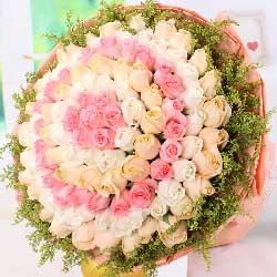 99枝混色玫瑰/我想给你永远幸福