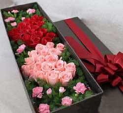 40枝玫瑰康乃馨礼盒/对你的爱,一切尽在不言中!
