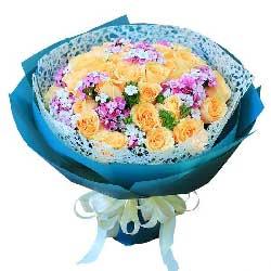 33枝香槟玫瑰/鲜花送来我的心声