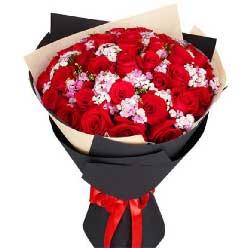 你是我最大的梦想/11枝玫瑰巧克力+苹果:33枝红玫瑰/鲜花代表我的心,想你了