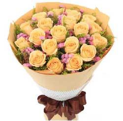 19枝香槟玫瑰/因为思念,我越发想你,爱你!