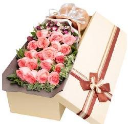 19枝粉玫瑰/你是我生命中最美丽的相遇