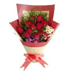 真诚的诺言/21枝红色玫瑰:比翼双欢,爱到永远/11枝红色玫瑰