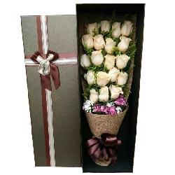 永远呵护你/17枝粉玫瑰巧克力:你的一辈子,我来承担/19枝香槟玫瑰