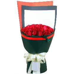 一如既往对你好/33枝红色玫瑰