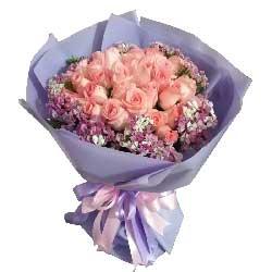白头到老,一生的相依/21枝粉色玫瑰