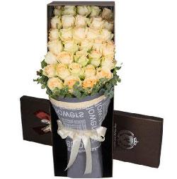 用尽一生爱你/99枝紫色玫瑰:幸福到老/33枝香槟玫瑰