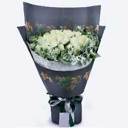 对你最真挚的爱/33枝白色玫瑰