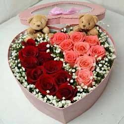 27枝玫瑰/永恒的纪念:愈发的想你/19枝玫瑰礼盒