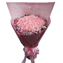 我会让你幸福快乐/21枝粉色玫瑰