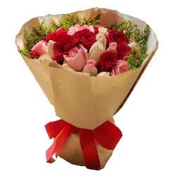 感谢你的出现/29枝粉玫瑰:我愿意陪你一辈子/27枝玫瑰