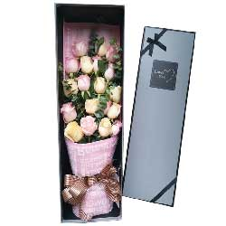 爱你永不变/29枝玫瑰礼盒:人生一起奋斗/19枝玫瑰