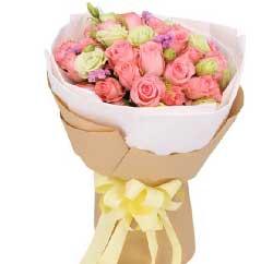 想你太深/33枝粉色玫瑰